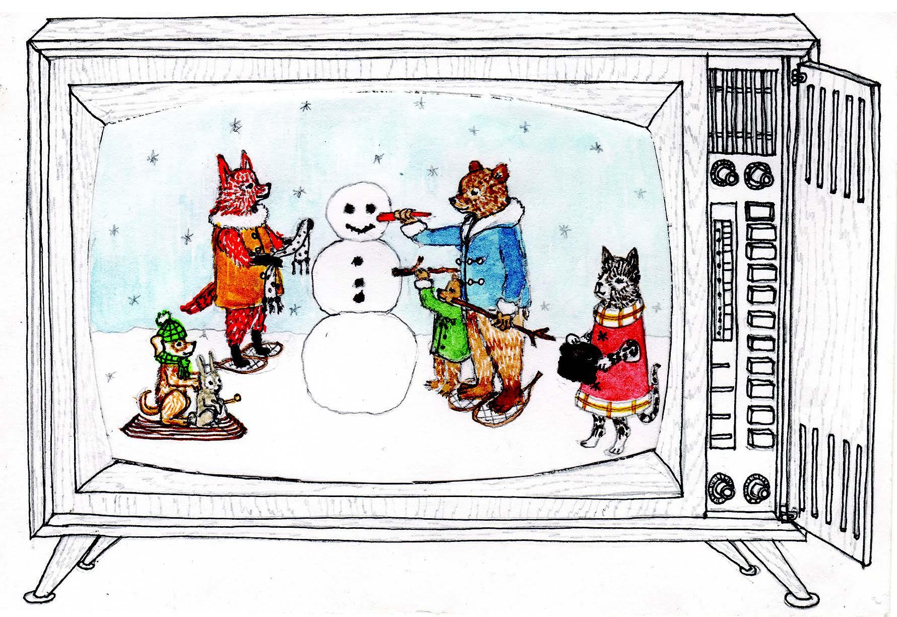 2019 Holiday Card Snow Scene