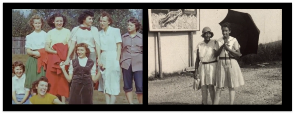 """Left: Still from """"Selections from John Parrott Home Movies."""" Mid-1950s. Courtesy of Appalshop. Right: Still from """"Egypt (USA),"""" by James E. Clay, Sr. ca.1929. Courtesy of the Walter J. Brown Media Archives and Peabody Awards Collection, University of Georgia."""